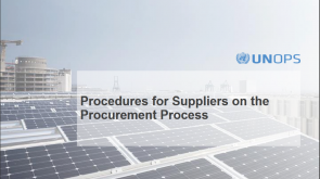 UNOPS Guideline to eSourcing